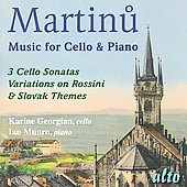 Martin: Works for Cello and Piano / Karine Georgian, Ian Munro