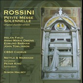 Rossini: Petite Messe Solennelle, original chamber verssion / Peter King, harmonium