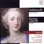 Handel: Airs et danses - Excerpts from Agrippina and Alcina / Karina Gauvin, soprano; Tafelmusik