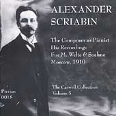 Scriabin - The Composer as Pianist / Lhevinne, Conradi, etc