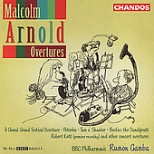 Arnold: Overtures / Gamba, BBC PO