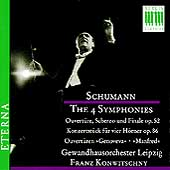 Schumann: The 4 Symphonies, etc / Franz Konwitschny