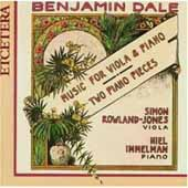Dale: Music for Viola and Piano / Rowland-Jones, Immelman
