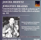 Brahms: Concerto in D major for violin, Op. 77; Concerto in A minor for violin & cello, Op. 102