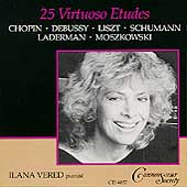 25 Virtuoso Etudes - Chopin, Debussy, et al / Ilana Vered