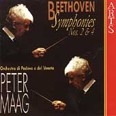 Beethoven: Symphonies no 2 & 4 / Peter Maag, Padova e Veneto