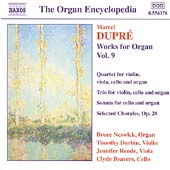 The Organ Encyclopedia - Dupr&eacute;: Works for Organ Vol 9