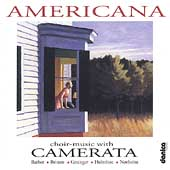 Americana - Works for Choir by Holmboe, Britten & Barber / The Camerata Chamber Choir