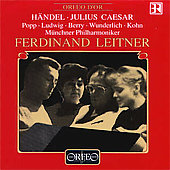 H&#228;ndel: Julius Caesar / Leitner, Popp, Ludwig, Berry, et al