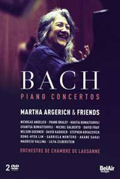 J.S. Bach: Concertos for 1, 2 & 3 Pianos, BWV 1054-56, 1058; BWV 1061-65  'Martha Argerich & Friends' / Lausanne CO [2 DVD]