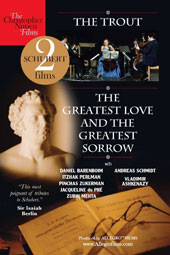 Schubert - two landmark films: 'The Trout' & 'The Greatest Love & the Greatest Sorrow' / Barenboim, Perlman, Zukerman, du Pré, Mehta, Ashkenazy
