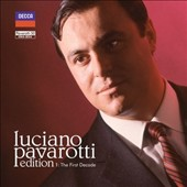 Luciano Pavarotti Edition, Vol. 1:  The First Decade - Complete performances of Beatrice di Tenda, La fille du régiment, L'Elisir d'Amore, Macbeth, Rigoletto, Lucia di Lammermoor, Turandot, La Boheme, I Puritani, La Favorita, more, plus arias [27 C