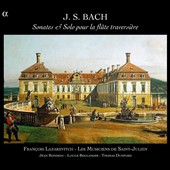 J.S. Bach: Sonatas and solos for traverse flute / Jean Rondeau, Lucile Boulanger, Thomas Dunford