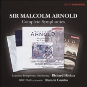 Malcolm Arnold: Complete Symphonies, nos 1-9 / London SO, Richard Hickox; BBC PO, Rumon Gamba [4 CDs]