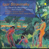 Igor Stravinsky: The Rite of Spring - Version for Piano 4 hands and for Orchestra / Trenkner - Speidel Piano Duo; Beethoven Orch., Bonn, Blunier