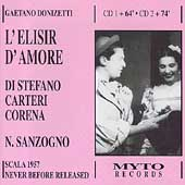 Donizetti: L'Elisir d'Amore / Sanzogno, Di Stefano, et al