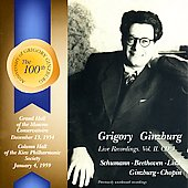 Grigory Ginzburg Live Recordings Vol 2 (CD 3)
