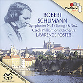 Schumann: Symphonies no 1 & 2 / Foster, Czech Philharmonic