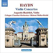 Haydn: Violin Concerti nos 1, 3 & 4 / Hadelich, M&uuml;ller-Br&uuml;hl, Cologne CO