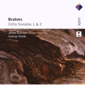 Brahms: Cello Sonatas 1 & 2 / Janos Starker, cello; Gyorgy Sebok, piano