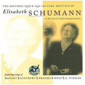 The Historic 1950 & 1951 Lecture-Recitals of Elisabeth Schumann