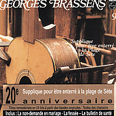 Georges Brassens: Supplique Pour a La Plage de Sete