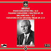 Brahms: Piano Concertos no 1 & 2, etc / Backhaus, et al