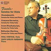 Finale - Shostakovich, Martinu, etc: Viola Sonatas