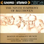 Beethoven: Symphony No. 9 In D Minor  Op. 125 / Leontyne Price, Maureen Forrester, David Poleri, Giorgio Tozzi. Boston SO, Charles Munch [rec. 1964]