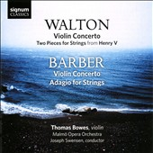 Walton: Violin Concerto; Barber: Violin Concerto