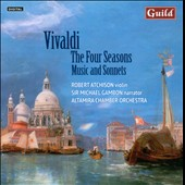 Vivaldi: The Four Seasons; Music and Sonnets / Robert Atchison, violin; Sir Michael Gambon, narrator