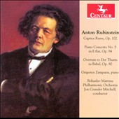 Anton Rubenstein: Caprice Russe, Op. 102; Piano Concerto No 5; Overture to Der Thurm zu Babel, Op. / Grigorious Zamparas, piano