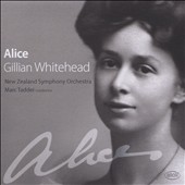 Gillian Whitehead (b.1941) 'Alice', a monodrama for mezzo-soprano & orchestra; Karohirohi, for solo harp; The Improbable ordered dance, for orchestra / Carolyn Mills, harp; Helen Medlyn, mz