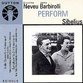 Sibelius: Violin Concerto, Symphony no 2 / Barbirolli, Neveu