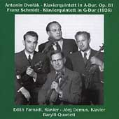Dvor&#225;k, Schmidt: Piano Quintets / Farnadi, Demus, Barylli