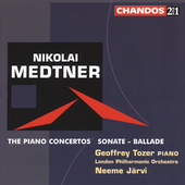 Medtner: The Piano Concertos / Tozer, Järvi, London PO