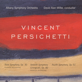 Persichetti: Symphonies no 3, 4 & 7 / Miller, Albany SO