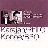 Mozart: Sinfonia Concertante / Karajan, Konoe, et al