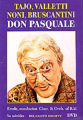 Don Pasquale:  Tajo / Valletti / Noni / Bruscanti [DVD]