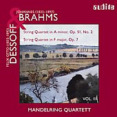 Brahms, Dessof: String Quartets / Mandelring String Quartet