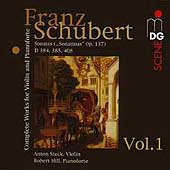 SCENE  Schubert: Works for Violin and Piano Vol 1 / Steck