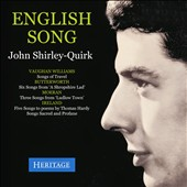 English Song - Vaughan Williams: Songs of Travel; Butterworth: A Shropshire Lad; Moeran: Ludlow Town; Ireland: Songs / John Shirley-Quirk, baritone