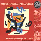 HERITAGE  Modern American Vocal Works - Barber, Copland, etc