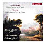 Schumann, Chopin: Piano Concertos / Lortie, J&auml;rvi