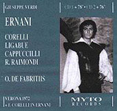 Verdi: Ernani / De Fabritiis, Corelli, Cappuccilli, et al
