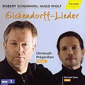 Schumann, Wolf: Eichendorff lieder / Pr&eacute;gardien, Gees