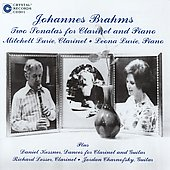 Brahms: Clarinet Sonatas, Op 120;  Kessner / Mitchell & Leona Lurie, Richard Lesser, Jordan Charnofsky