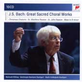 J.S. Bach: Sacred Choral Works - Christmas Oratorio; St. Matthew Passion; St. John Passion; Mass in B minor / Helmuth Rilling [10 CDs]