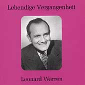 Lebendige Vergangenheit - Leonard Warren