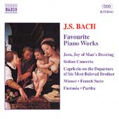 Bach: Favorite Piano Works / Andjaparidze, Sebesty&eacute;n, R&uuml;bsam